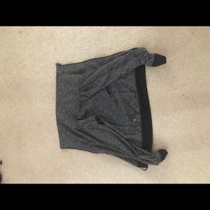 Black and grey cowlneck jacket
